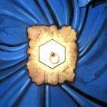 l'EREMITA (tarocco) 2012 Acrilico su tela e foglia oro 100x 80