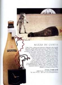 Bottiglia e illustrazione