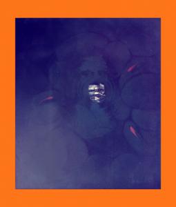 MADRE di NARCISO Madonna dei Bagni Olio su tela 70X60  1986