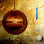 OXùM (Madonna della concezione) Olio su tela 100x100