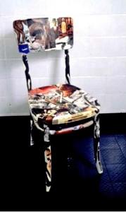 ALBERO DELLA CONOSCENZA Collage su sedia