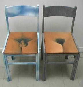 LA COPPIA  Olio su sedie
