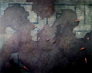 LEANDRO tecnica mista su tela 80x100  1993