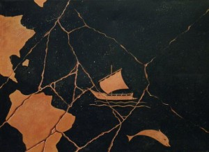 PANDORA (particolare) tecnica mista su tela 50x70