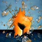 VENERE AZIONE Olio su tela con vetro 40x30